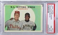 N.L. Hitting Kings (Richie Ashburn, Willie Mays) [PSA8NM‑MT&n…