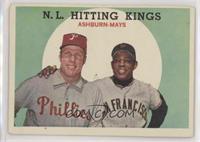 N.L. Hitting Kings (Richie Ashburn, Willie Mays)