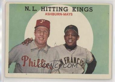 1959 Topps - [Base] #317 - N.L. Hitting Kings (Richie Ashburn, Willie Mays)