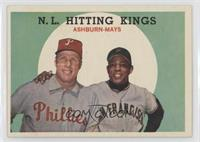 N.L. Hitting Kings (Richie Ashburn, Willie Mays) [Poor to Fair]