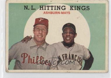 1959 Topps - [Base] #317 - N.L. Hitting Stars (Richie Ashburn, Willie Mays) [Good to VG‑EX]