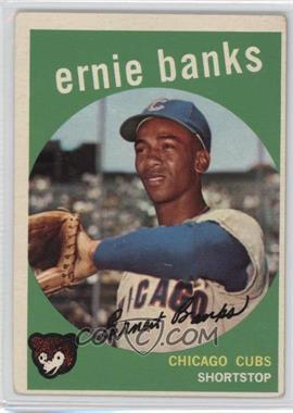 1959 Topps - [Base] #350 - Ernie Banks [GoodtoVG‑EX]