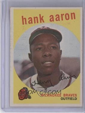 1959 Topps - [Base] #380 - Hank Aaron [Good to VG‑EX]