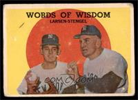 Words of Wisdom (Don Larsen, Casey Stengel) [FAIR]