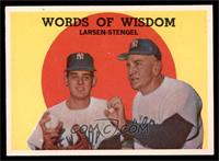 Words of Wisdom (Don Larsen, Casey Stengel) [EX MT]