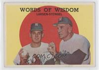 Words of Wisdom (Don Larsen, Casey Stengel) [Good to VG‑EX]