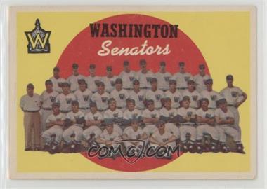 1959 Topps - [Base] #397 - Washington Senators Team (6th Series Checklist)
