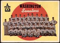 Washington Senators Team (6th Series Checklist) [FAIR]