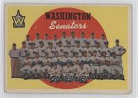 Washington Senators Team (6th Series Checklist) [PoortoFair]