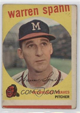 1959 Topps - [Base] #40.3 - Warren Spahn (Born 1921)