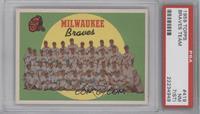 Milwaukee Braves Team (Fifth Series Checklist) [PSA7NM(ST)]