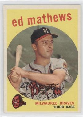 1959 Topps - [Base] #450 - Eddie Mathews