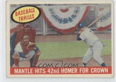 1959 Topps - [Base] #461 - Mantle Hits 42nd Homer for Crown (Mickey Mantle) [Good to VG‑EX]