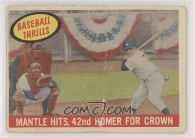1959 Topps - [Base] #461 - Mantle Hits 42nd Homer for Crown (Mickey Mantle) [PoortoFair]