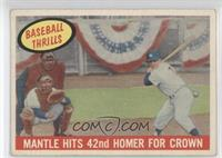 Mantle Hits 42nd Homer for Crown (Mickey Mantle) [GoodtoVG‑EX]