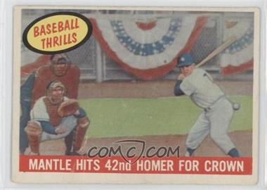 1959 Topps - [Base] #461 - Mantle Hits 42nd Homer for Crown (Mickey Mantle)