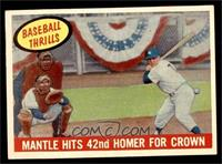 Mantle Hits 42nd Homer for Crown (Mickey Mantle) [EX]