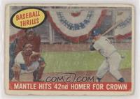 Mantle Hits 42nd Homer for Crown (Mickey Mantle) [Poor to Fair]
