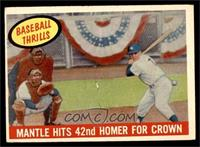 Mantle Hits 42nd Homer for Crown (Mickey Mantle) [VG EX]