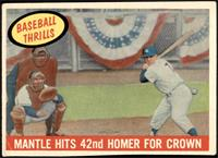 Mantle Hits 42nd Homer for Crown (Mickey Mantle) [VG]