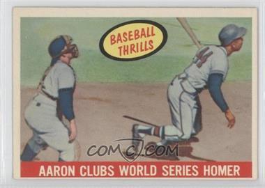 1959 Topps - [Base] #467 - Hank Aaron