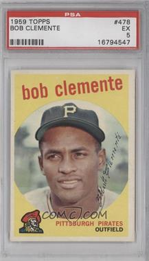 1959 Topps - [Base] #478 - Roberto Clemente [PSA5]