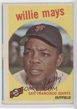 1959 Topps - [Base] #50 - Willie Mays [GoodtoVG‑EX]