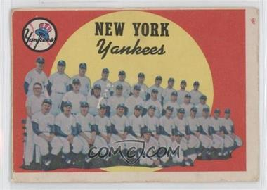 1959 Topps - [Base] #510 - New York Yankees [GoodtoVG‑EX]