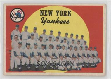 1959 Topps - [Base] #510 - New York Yankees [Good to VG‑EX]