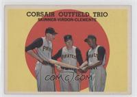 Corsair Outfield Trio (Bob Skinner, Bill Virdon, Roberto Clemente) [Goodt…