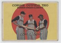 Corsair Outfield Trio (Bob Skinner, Bill Virdon, Roberto Clemente) [Good t…