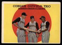 Corsair Outfield Trio (Bob Skinner, Bill Virdon, Roberto Clemente) [VG]