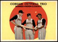 High # - Corsair Outfield Trio (Bob Skinner, Bill Virdon, Roberto Clemente) [NM…