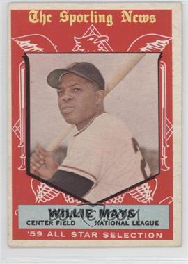 1959 Topps - [Base] #563 - High # - Willie Mays