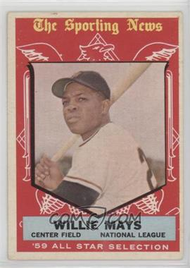 1959 Topps - [Base] #563 - Willie Mays [Good to VG‑EX]