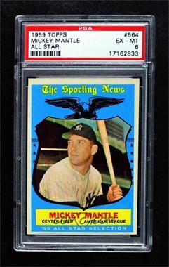 1959 Topps - [Base] #564 - Mickey Mantle [PSA6EX‑MT]