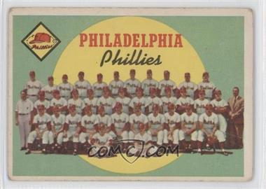 1959 Topps - [Base] #8 - Philadelphia Phillies Team (First Series Checklist) [GoodtoVG‑EX]