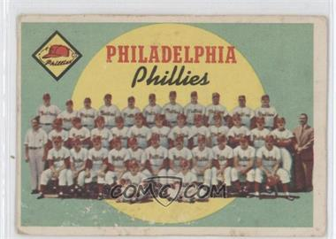 1959 Topps - [Base] #8 - Philadelphia Phillies Team (First Series Checklist) [Good to VG‑EX]