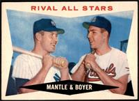 Rival All-Stars (Mickey Mantle, Ken Boyer) [EX]