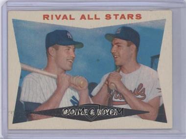 1960 Topps - [Base] #160 - Rival All-Stars (Mickey Mantle, Ken Boyer)