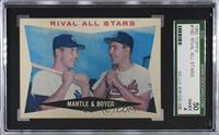 Rival All-Stars (Mickey Mantle, Ken Boyer) [SGC 50 VG/EX 4]