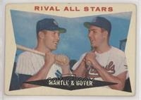 Rival All-Stars (Mickey Mantle, Ken Boyer) [Poor to Fair]