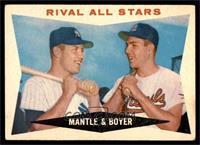 Rival All-Stars (Mickey Mantle, Ken Boyer) [VG]