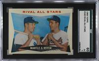Rival All-Stars (Mickey Mantle, Ken Boyer) [SGC 60 EX 5]