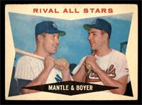 Rival All-Stars (Mickey Mantle, Ken Boyer) [VG]