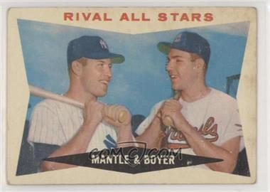 1960 Topps - [Base] #160 - Rival All-Stars (Mickey Mantle, Ken Boyer) [GoodtoVG‑EX]