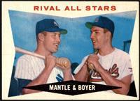 Rival All-Stars (Mickey Mantle, Ken Boyer) [EXMT]
