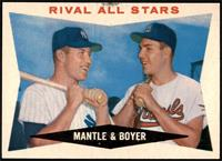 Rival All-Stars (Mickey Mantle, Ken Boyer) [NM]
