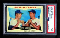 Rival All-Stars (Mickey Mantle, Ken Boyer) [PSA 7 NM]