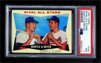 Rival All-Stars (Mickey Mantle, Ken Boyer) [PSA7NM]